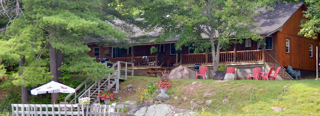 Twin Veranda Cottage at Blue Mountain Lodge in the Kawarthas