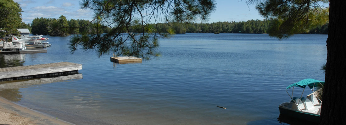 View of Lake Kassabog from Blue Mountain Lodge in the Kawarthas
