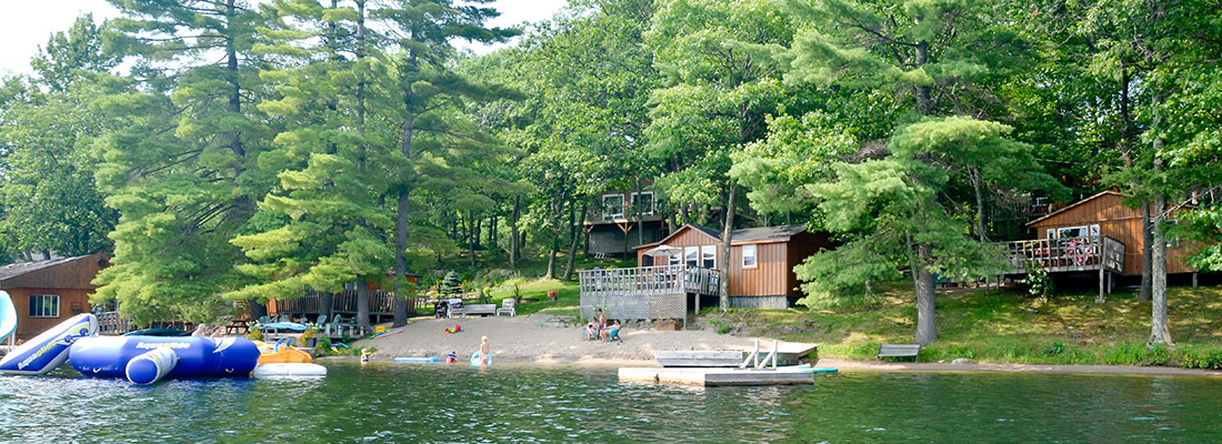 Waterfront area at Blue Mountain Lodge in the Kawarthas